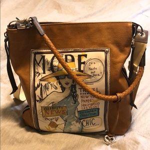 Brighton Brown Leather Travel Shoulder Bag